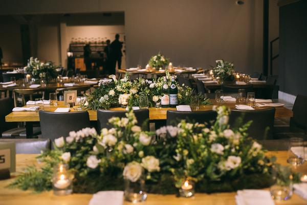 white garden wedding