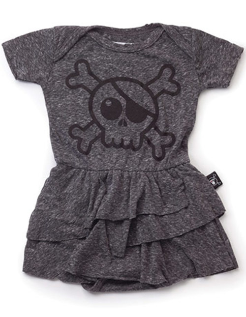 skull onesie sleeveless skirt