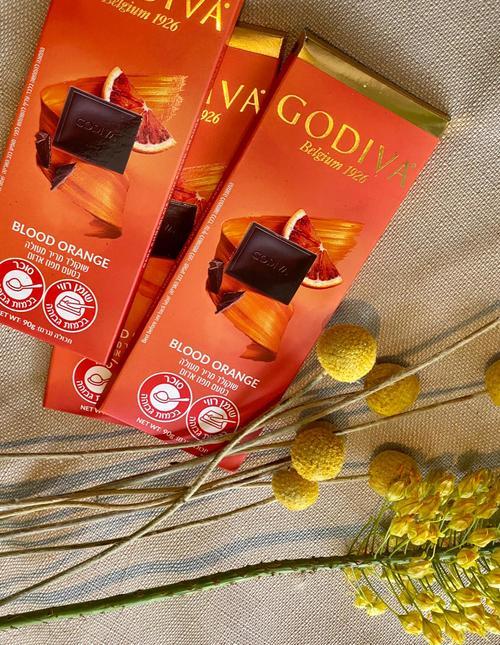 גודייבה שוקולד מריר מעולה בטעם תפוז אדום 90 גרם